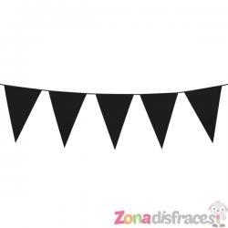 Guirnalda de banderines negros (10 m) - Imagen 1