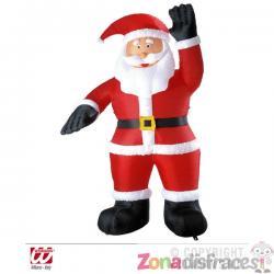 Papá Noel hinchable saludando con luz (244 cm) - Imagen 1