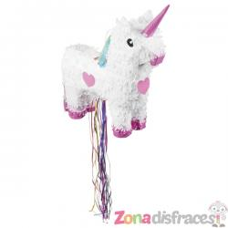 Piñata de unicornio blanco - Imagen 1