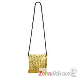 Bolso con lentejuelas doradas para mujer - Imagen 1