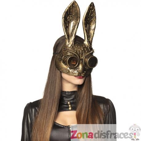 Antifaz Steampunk de conejo - Imagen 1