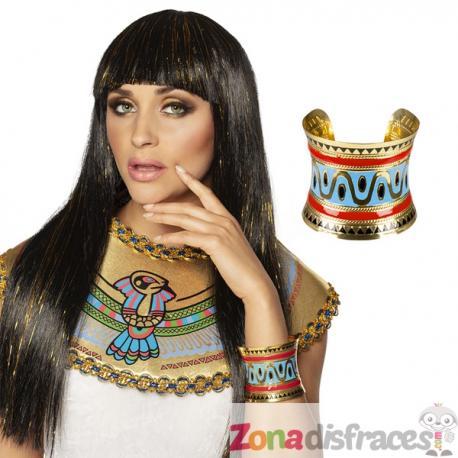 Brazalete de Cleopatra con dibujos egipcios - Imagen 1