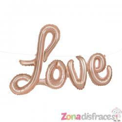 Globo Foil Love oro rosa - Imagen 1