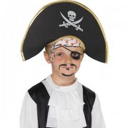 Sombrero de capitán pirata para niño - Imagen 1