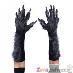 Guantes de hombre lobo gris para adulto - Imagen 1