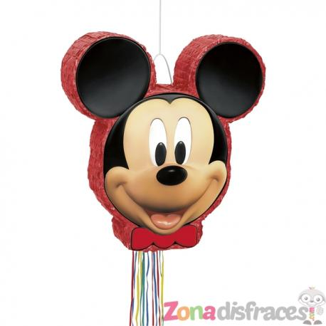 Piñata roja Mickey Mouse - Imagen 1