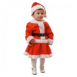 Disfraz de Mamá Noel para niña y bebé - Imagen 1