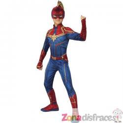 Disfraz de Capitana Marvel para niña - Imagen 1
