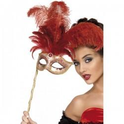 Antifaz fantasía barroca rojo - Imagen 1