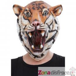 Máscara de Tigre de látex para adulto - Imagen 1