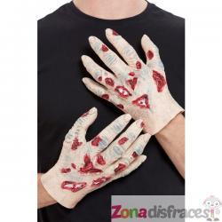Manos de zombie de látex para hombre - Imagen 1