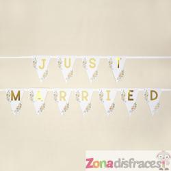 Banderín Just Married  - Geo Floral - Imagen 1