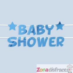 Guirnalda Baby Shower azul - Blue Star - Imagen 1