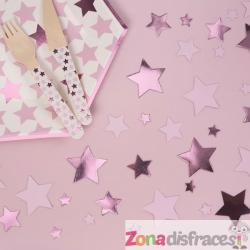 Confeti para mesa rosa - Pink Star - Imagen 1