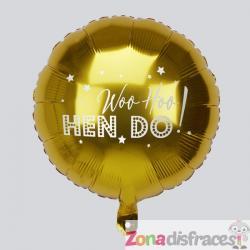 "Globo foil en dorado ""Woo Hoo Hen Do"" - Woo Hoo Hen Do - Imagen 1"