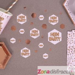 "Confeti para mesa ""Hen Party"" - Glitz & Glamour Pink & Rose Gold - Imagen 1"