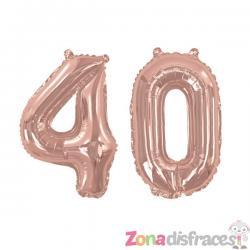 """Globo foil """"40"""" en oro rosa - Glitz & Glamour Pink & Rose Gold 40cm - Imagen 1"""