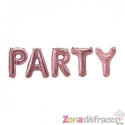"Globo foil ""Party"" en oro rosa - Glitz & Glamour Pink & Rose Gold - Imagen 1"