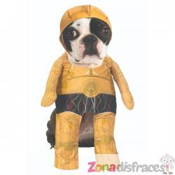 Disfraz de C3PO para perro - Star Wars - Imagen 1