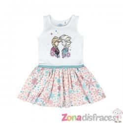 Vestido de Anna y Elsa para niña - Frozen - Imagen 1