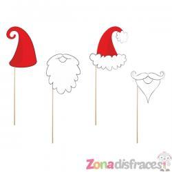"""4 accesorios photocall """"Papa Noel"""" - Christmas - Imagen 1"""