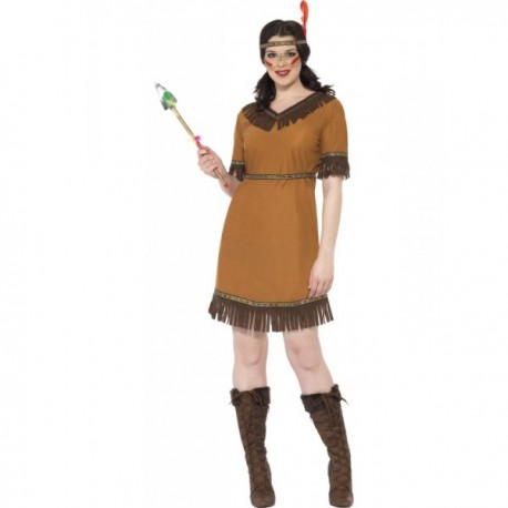 Disfraz de doncella india - Imagen 1