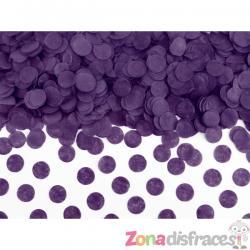 Confeti redondo morado de papel para mesa - Imagen 1