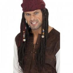 Peluca y pañuelo de pirata - Imagen 1