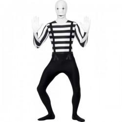 Disfraz de mimo segunda piel - Imagen 1