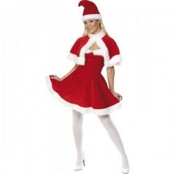 Disfraz de Miss Santa con capa deluxe - Imagen 1