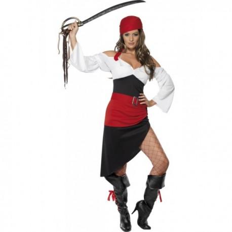 Disfraz de moza pirata descarada - Imagen 1
