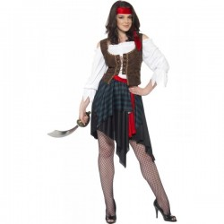 Disfraz de mujer pirata clásica - Imagen 1