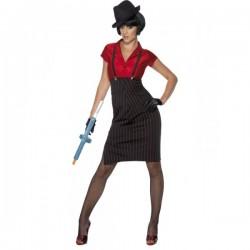 Disfraz de gángster de los años 20 para mujer - Imagen 1