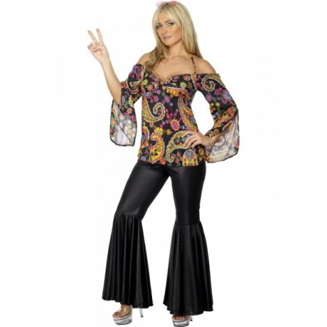 Disfraz de hippie para mujer - Imagen 1