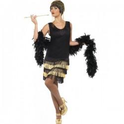Disfraz de joven a la moda de los años 20 con flecos - Imagen 1