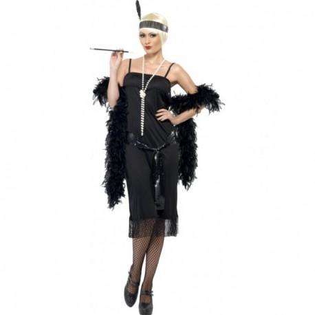 Disfraz de joven a la moda de los años 20 negro - Imagen 1