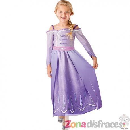 Disfraz de Elsa morado para niña - Frozen 2 - Imagen 1