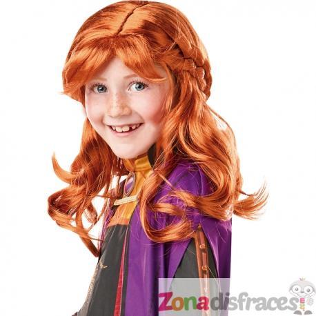Peluca de Anna Frozen 2 para niña - Imagen 1