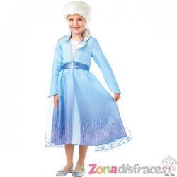Disfraz de Elsa Frozen 2 con peluca para niña - Imagen 1