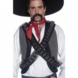 Cinturón de cuero de balas de bandolero del Oeste - Imagen 1