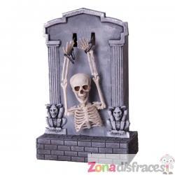 Lápida decorativa de esqueleto con movimiento, luz y sonido halloween - Imagen 1