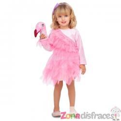 Disfraz de flamenco adorable para niña - Imagen 1