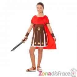 Disfraz de gladiadora romana para niña - Imagen 1