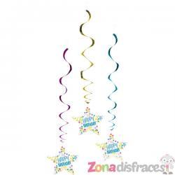 """Guirnalda con forma de estrella """"Happy Birthday"""" - Imagen 1"""