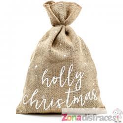 Saco Holly Christmas decorativo - Imagen 1