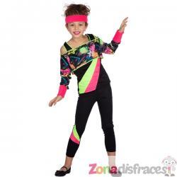 Disfraz años 80 aerobic para niña - Imagen 1
