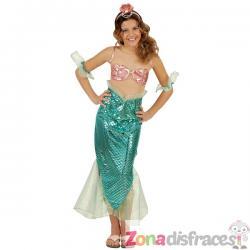Disfraz de sirena turquesa para niña - Imagen 1