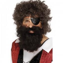 Barba de pirata marrón - Imagen 1