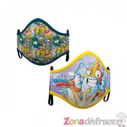 Mascarilla de Super Zings infantil (2 unidades) - Imagen 1