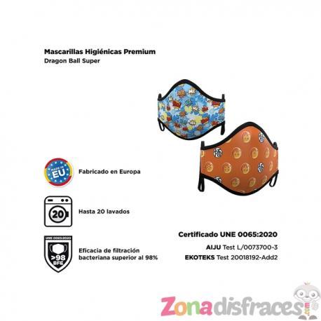 Mascarilla de Dragon Ball para adulto (2 unidades) - Imagen 1